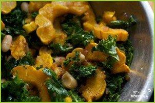 Салат из сквоша, кале и фасоли - фото шаг 5