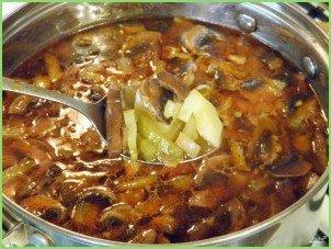 Грибная солянка с картошкой - фото шаг 9