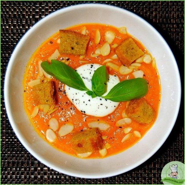 Хрустящий суп из тыквы с сухариками - фото шаг 1