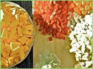 Хрустящий суп из тыквы с сухариками - фото шаг 3