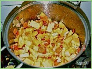Хрустящий суп из тыквы с сухариками - фото шаг 8