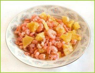 Креветки с ананасом и сыром - фото шаг 3