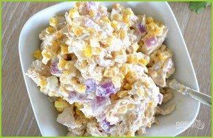 Куриный салат с кукурузой - фото шаг 5