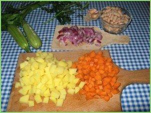 Минестроне с фасолью - фото шаг 2