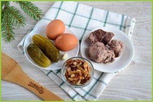 Мясной салат с орехами - фото шаг 1