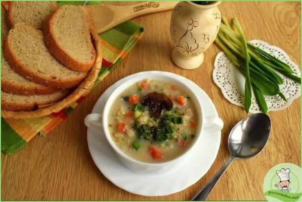 Пшенный суп с грибами - фото шаг 1