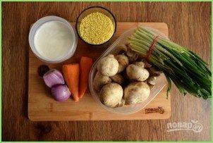 Пшенный суп с грибами - фото шаг 2