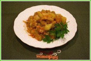 Рагу из баклажанов вкусное - фото шаг 8
