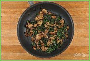 Рулеты с грибами и шпинатом - фото шаг 3