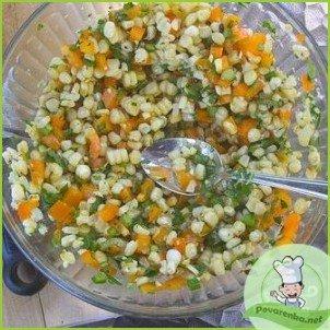 Салат из кукурузы, болгарского перца и авокадо - фото шаг 6