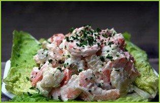 Салат с грибами и креветками - фото шаг 4