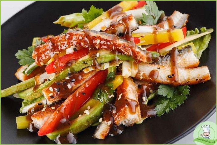 Салат с копченым угрем - фото шаг 1