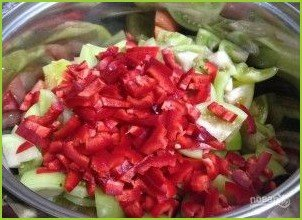 Салат с зелеными помидорами на зиму - фото шаг 1
