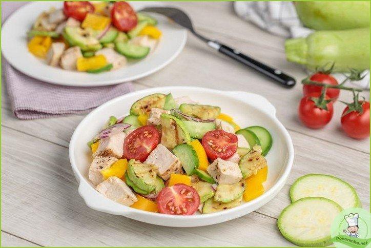 Салат с жареными кабачками - фото шаг 1