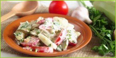 Салат с жареными кабачками - фото шаг 4