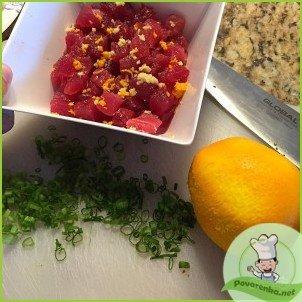 Тартар из тунца с авокадо - фото шаг 2