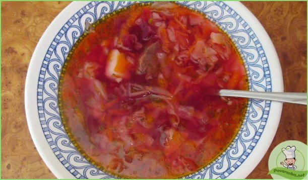 Борщ с тушенкой и помидорами - фото шаг 1