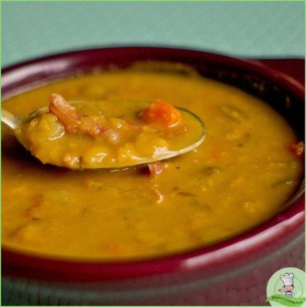Гороховый суп-пюре с оливками - фото шаг 1