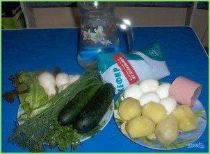 Овощная окрошка на кефире - фото шаг 2