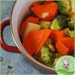 Овощной суп-пюре с креветками - фото шаг 5