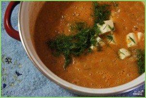 Овощной суп-пюре с креветками - фото шаг 8