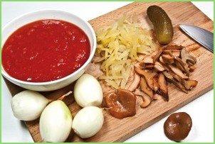 Солянка мясная на сковороде - фото шаг 4